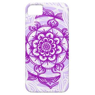 White & Purple Mandala Pattern Barely There iPhone 5 Case