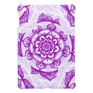 White & Purple Mandala Pattern Cover For The iPad Mini