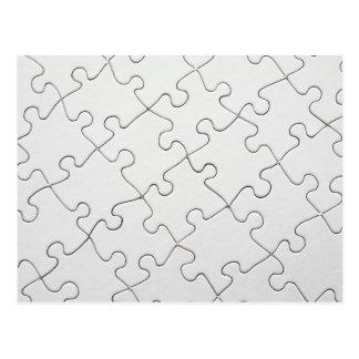 White puzzle postcard