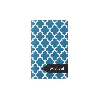 White Quatrefoil Seamless Pattern | DIY Background Pocket Moleskine Notebook