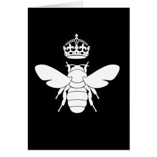 White Queen Bee Logo...Are You A Queen Bee? Greeting Cards