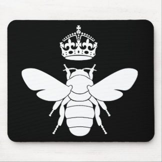 White Queen Bee Logo...Are You A Queen Bee? Mouse Mat