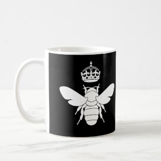 White Queen Bee Logo...Are You A Queen Bee? Classic White Coffee Mug