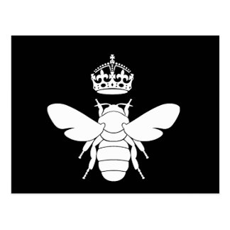 White Queen Bee Logo...Are You A Queen Bee? Postcard