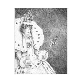 White Queen Canvas Print Alice in Wonderland Art