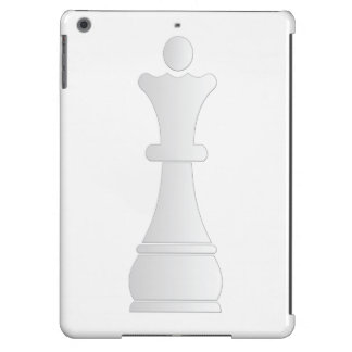 White queen chess piece iPad air case