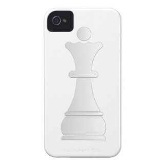 White queen chess piece iPhone 4 covers