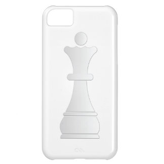 White queen chess piece iPhone 5C case