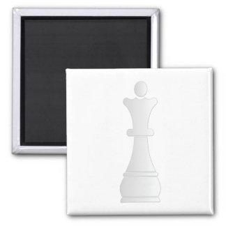 White queen chess piece fridge magnet