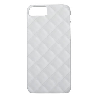 White Quilted Leather iPhone 7 Case