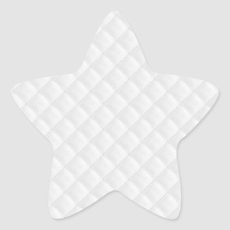 White Quilted Leather Star Sticker