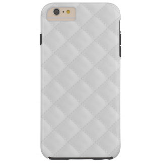 White Quilted Leather Tough iPhone 6 Plus Case