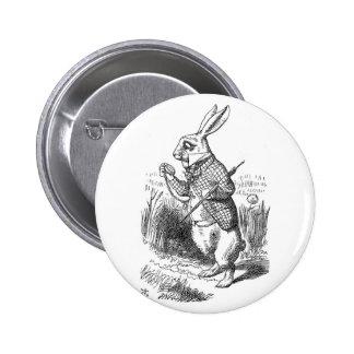 White Rabbit 6 Cm Round Badge