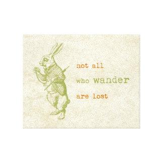 White Rabbit, Alice in Wonderland Canvas Print