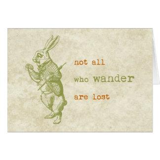 White Rabbit, Alice in Wonderland Card