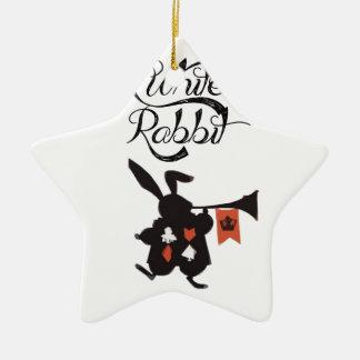 White Rabbit, Alice In Wonderland Christmas Ornament