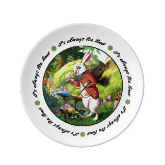 "White Rabbit | ""Alice in Wonderland"" Easter Plates"