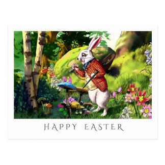 White Rabbit | Alice in Wonderland Easter Postcard
