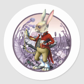 White Rabbit |Alice in Wonderland Easter Stickers