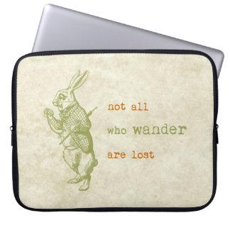 White Rabbit, Alice in Wonderland Laptop Sleeve