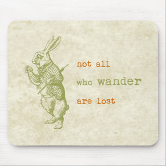 White Rabbit, Alice in Wonderland Mouse Mat