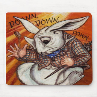 WHITE RABBIT Alice in Wonderland Mouse Pad