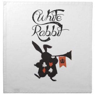White Rabbit, Alice In Wonderland Napkin