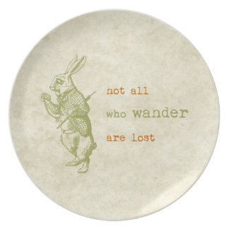 White Rabbit, Alice in Wonderland Plate