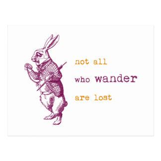 White Rabbit Alice in Wonderland Postcards