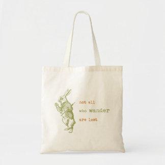White Rabbit Alice in Wonderland Tote Bags