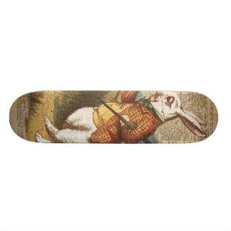 White Rabbit Alice in Wonderland Vintage Art Custom Skateboard