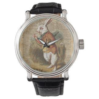 White Rabbit Alice in Wonderland Vintage Art Watches