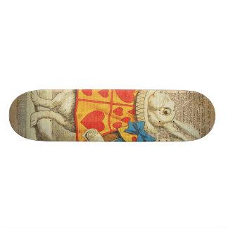 White Rabbit Alice in Wonderland Vintage Artwork Skate Board Deck