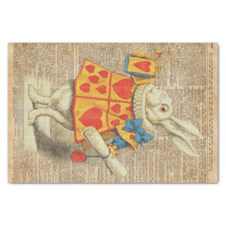 White Rabbit Alice in Wonderland Vintage Artwork Tissue Paper