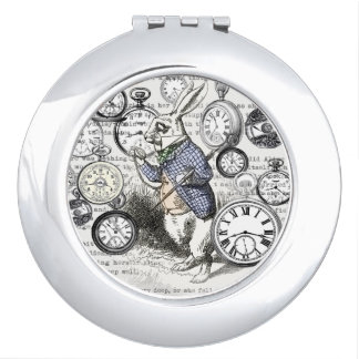 White Rabbit Alice Time Makeup Mirror