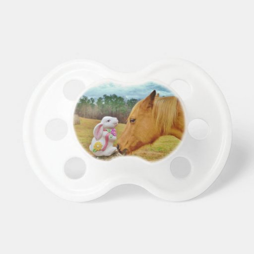 White Rabbit and Yellow Horse Pacifier