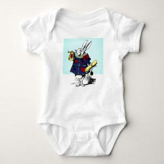 White Rabbit Baby Alice in Wonderland classic book Baby Bodysuit