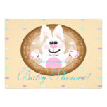 White Rabbit baby shower invitations template