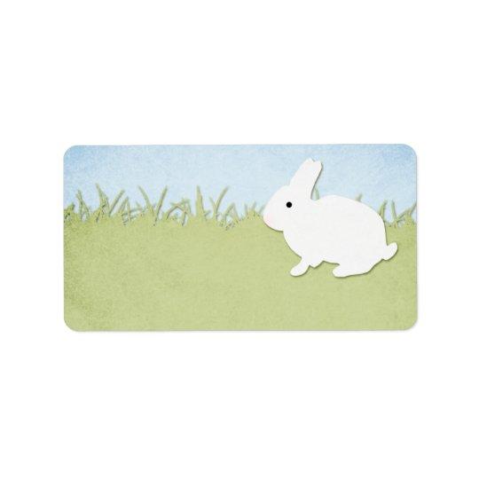 White Rabbit Blank Address Label