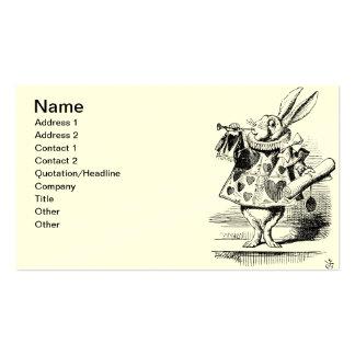 White Rabbit Business Cards Cream