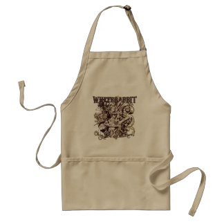 White Rabbit Carnivale Style Adult Apron