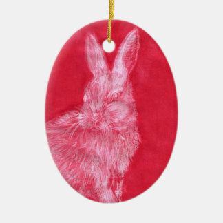 White Rabbit Christmas Ornament