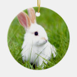 White Rabbit Christmas Tree Ornament