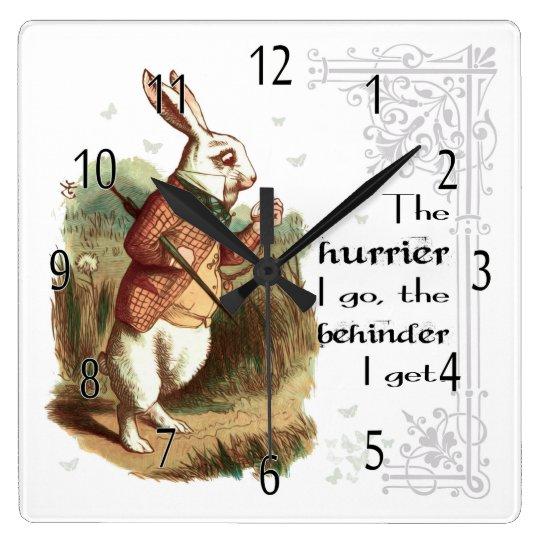 White Rabbit Clock, The Hurrier I go Square