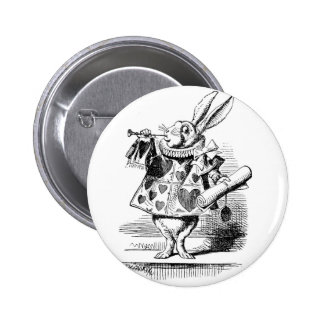White Rabbit dressed as Herald 6 Cm Round Badge