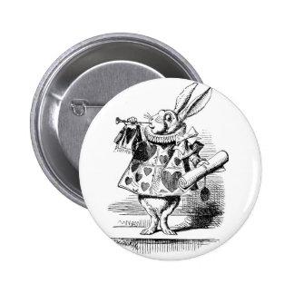 White Rabbit dressed as Herald 6 Cm Round Badge