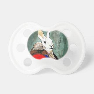 white rabbit baby pacifiers