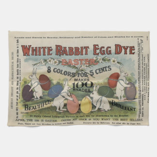 White Rabbit Egg Dye Tea Towel