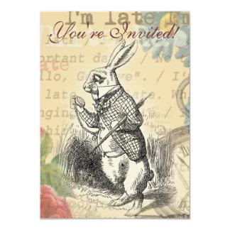 White Rabbit from Alice in Wonderland Custom Invitations