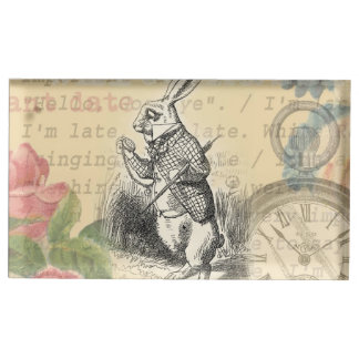 White Rabbit from Alice in Wonderland Place Card Holder